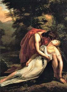 Ary Scheffer, La Mort d'Eurydice, 1814, musée des beaux-arts de Blois