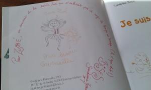 dédicace de l'ouvrage faite à Montreuil pour vous montrer le style de dessin boumabib.fr