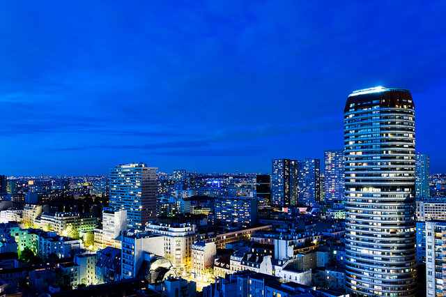 Blue hour on Paris by Gustave Deghilage via Flickr