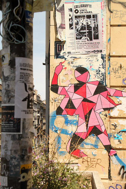 Marseille, Arlequin Stree art by Pop H  via Flickr