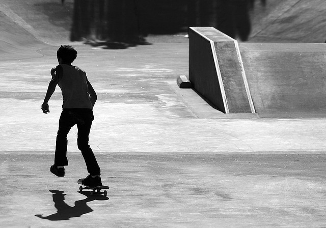 See yer later, skater by James Hill via Flickr
