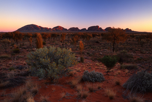 Kata Tjuta Sunrise by Mark Wassell via Flicjr