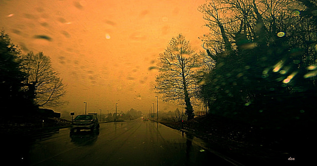 the road and the rain by Claudia Dea via Flickr