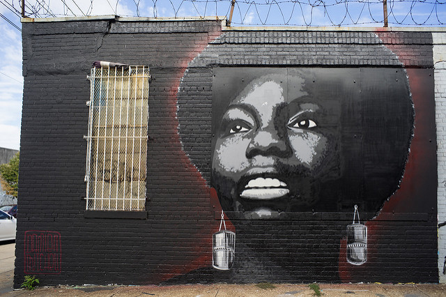 Damien Mitchell's Nina Simone, Bushwick, Brooklyn by Shawn Hoke