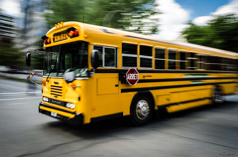 School bus Panning by Tiomax80 via Flickr